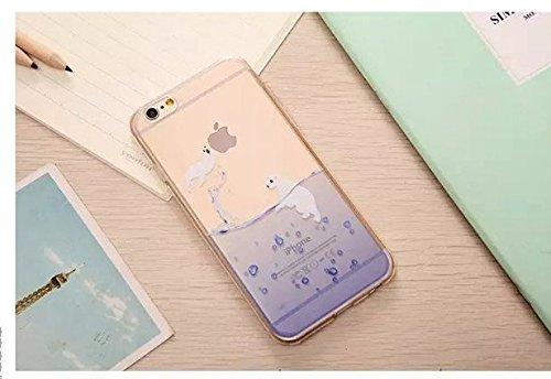 Missley iPhone 6Plus/6S Plus Case, [protezione goccia/Shock Tecnologia di Assorbimento] [polvere tappo] Clear Cover Posteriore Morbida in TPU con motivo per 5,5iPhone 6Plus/6S, Plus Cute Cartoon Co Flying Sea Lion