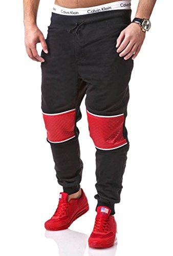 MT Styles Trainingshose mit Zipper Sporthose R-634 [Schwarz, L]