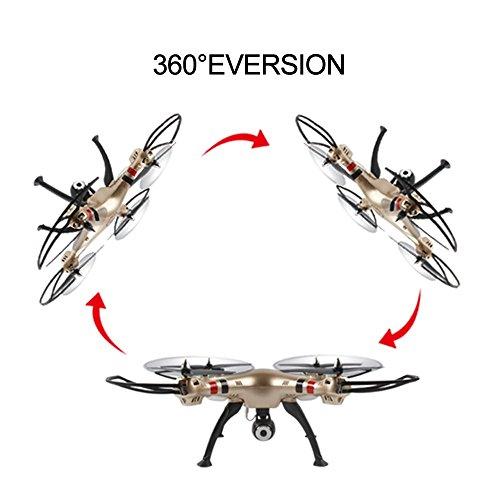Syma X8HW (aggiornamento del popolare Syma X8W) 2.4GHz 6-Axis Gyro Wifi FPV con la macchina fotografica HD RC Quadcopter Drone (X8HW) - 4