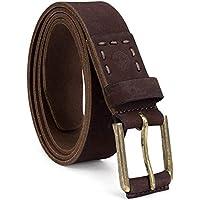 Timberland Men's Casual Leather Belt, dark brown, 38