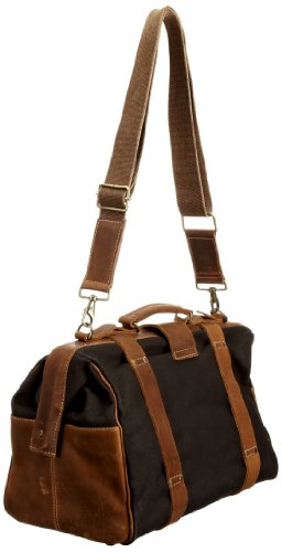 Feud Britannia Ritz Over Night Bag, Articles de voyage homme - noir / Tan - taille unique noir / Tan