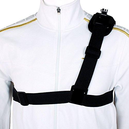 Andoer Einzel-Schulterriemen Montage Chest Harness-Gurt-Adapter für GoPro Hero 1 2 3 3+ 4 Kamera.