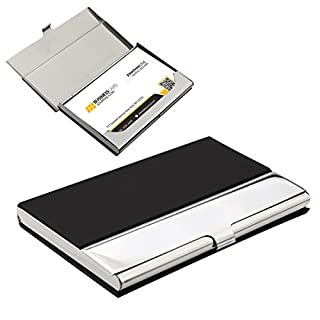 A-SZCXTOP Stainless Steel Metal Keeper Wallet Credit Card Holder Business Name Credit ID Card Pocket Case Box Holder