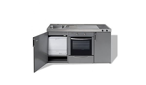 Miniküche Mit Geschirrspüler Ohne Kühlschrank : Edelstahl miniküche kitchenline mkbgsesc ohne kühlschrank