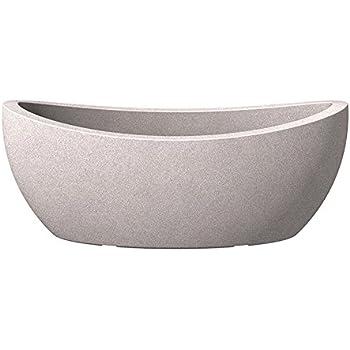 scheurich wave globe jardiniere ovale pflanzschale aus kunststoff taupe granit 58 cm lang 24. Black Bedroom Furniture Sets. Home Design Ideas