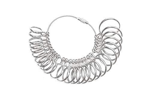 38470916249b DoGeek Medidor Anillos Ring Sizer para Medir Dedos de Tamaño para Anillos  Tamaños A-Z Metal