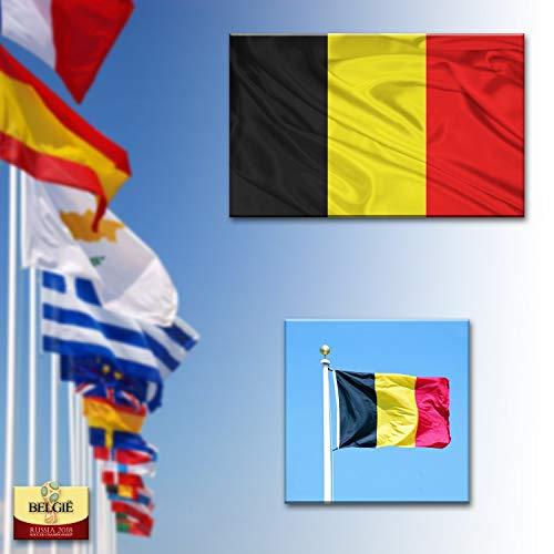 ADATECH Drapeau de la Belgique 150x90cm Drapeau belge 90 x 150 cm Polyester léger - Neuf
