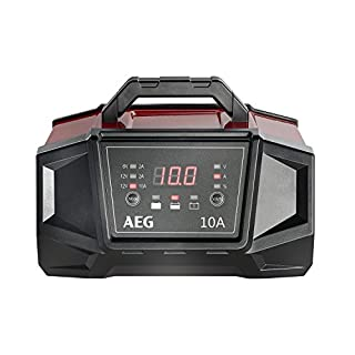AEG 158008 Werkstatt-Ladegerät WM 10 Ampere für 6 und 12 Volt Batterien, mit Autostart-Funktion, CE, IP 20, 10 A