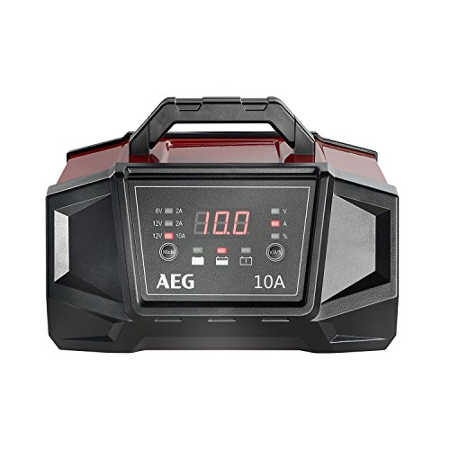 AEG Automotive 158008 Caricabatteria da Auto Officina WM Ampere per 6 e 12 Volt Batterie, con Funzione Auto Start, CE, IP 20, 10 a