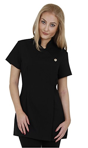 Proluxe Signature Button Beauty Tunic - Hairdressing Massage Therapist Spa Health Work Nail Salon Uniform - Available in 9 Colours