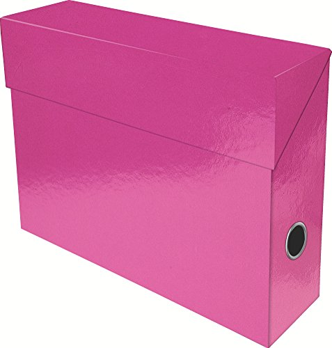exacompta-89924e-boite-transfert-papier-9-cm-rose