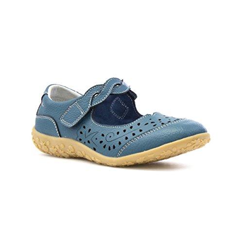 Cushion Walk Womens Blue Leather Comfort Bar Shoe - Size 8 UK...