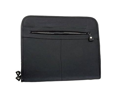 Alassio 30013 - Reißverschlussmappe Milano, DIN A4, aus Leder, schwarz, ca. 36 × 29 × 5 cm