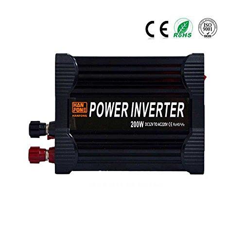 CHANG Auto-Inverter, Geänderter Sinus-Inverter 12V150W/200W, Strom-Konverter, Voller Energie-Inverter, Schwarz,200W,12V (400w Mobile Inverter)