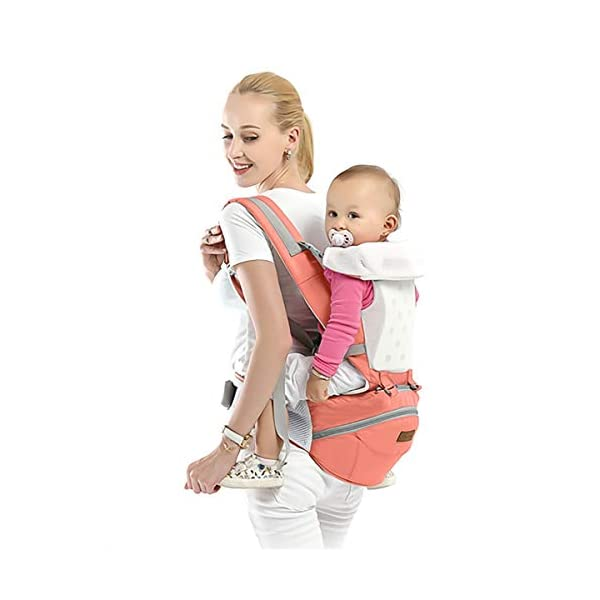 SONARIN 3 in 1Multifunction Hipseat Baby Carrier,Ergonomic,Mummy Bag,100% Cotton,Breathable mesh Backing,Adapted to Your Child's Growing,100% Guarantee and Free DELIVERY,Ideal Gift(Pink) SONARIN Applicable age and Weight:0-36 months of baby, the maximum load: 36KG, and adjustable the waist size can be up to 45.3 inches (about 115cm). Material:designers carefully selected soft and delicate 100% cotton fabric. Resistant to wash, do not fade, External use of 3D breathable mesh,15mm soft cushion,to the baby comfortable and safe experience. 30mm sponge filled, effectively relieve mother's abdominal pressure. Description:patented design of the auxiliary spine micro-C structure and leg opening design, natural M-type sitting. Removable backplane, hold the baby back, perfect support horizontal hold.The baby carrier and the hipseat junction have a protective pad,intimate design, so that your baby more comfortable. 3
