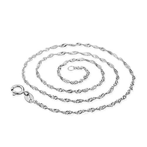 BURFLY Wasser-Wellen-Ketten-Halskette, Halskette weibliche models welle kette von high-end-frauen vintage-schmuck top 45 CM (Silber)