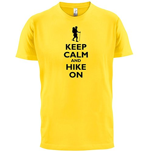 Keep Calm and Hike On - Herren T-Shirt - 13 Farben Gelb
