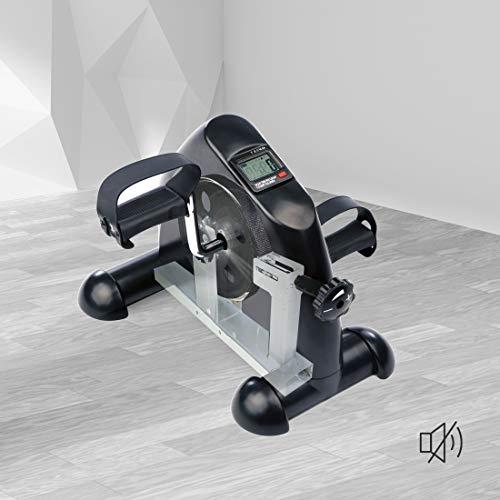 Ultrasport Mini-vélo d'appartement, appareil d'entraînement pour bras et jambes, pédalier pour les enfants et les personnes âgées avec console, résistance réglable, pour la maison et le bureau