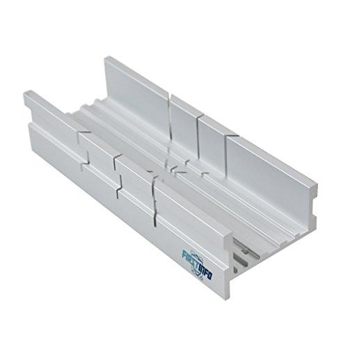 FIT TOOLS Caja pequeña de aluminio para ingletadora manual de sierra