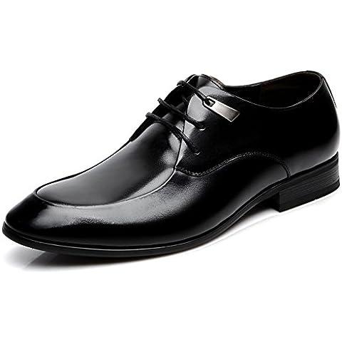 KIU Negocio zapatos de vestir de Inglaterra/cordón de cuero transpirableZapatos de cuero/ señaló hombre zapatos/ boda zapatos zapatos hombres/Zapatos de