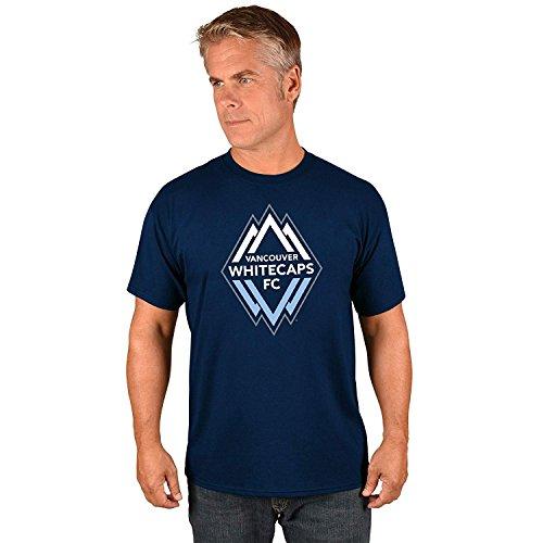 Majestic Athletic Vancouver Whitecaps FC MLS Herren Team Logo T-Shirt, Mädchen Unisex Jungen Damen Herren, Navy, XX-Large (Damen-team-logo-t-shirt Blaue)