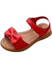 Topgrowth Sandali Bambina Primigi Fiore Perla Sandali Principessa Ragazze Scarpe per bambini (13, Rosso)