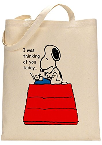 Peanuts Snoopy Thinking Of You Fan Custom Made Tote Bag