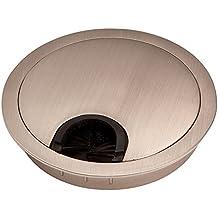 2 x SO-TECH® Pasacable de Metal Ø 90 mm Finitura Acero Inox
