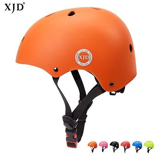 XJD Casco Bici Ideale per Bambini e Adolescenti Caschi MTB Scooter Helmet Ideale per Tutte Le Forme di attività in Bicicletta (Arancione, M)