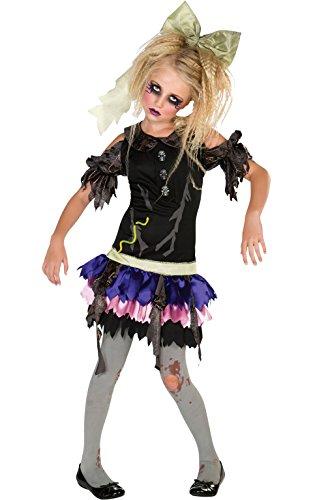 Für Mädchen Zombie Kostüm Kleine - Rubie 's Offizielles Zombie Girl Kostüm Mädchen klein