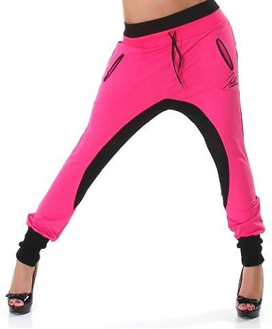 Sarouel pantalon de survêtement pantalon femme Jela Londres tailles M - Neon Pink-Black