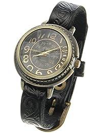 Y-BOA Vintage Femme Quartz Cuir PU Bracelet Fin Motif Floral Bureau OL Cadeau