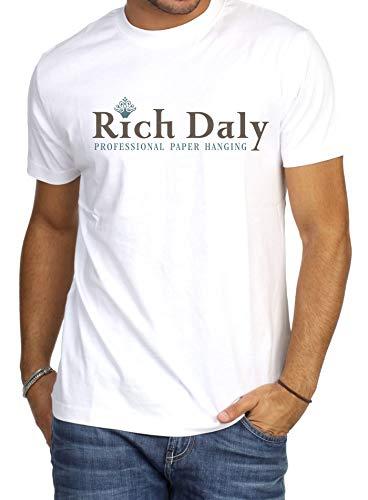 R2w Men's Men Printing Tees Short Sleeve T Shirt - Ultra Cotton Heavyweight T-shirt