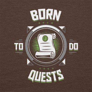 Texlab – Born To Do quests – sacchetto di stoffa Marrone