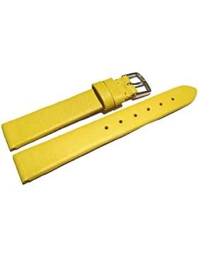 Orig. Watchband Berlin - Uhrenarmband - Business - glatt - gelb - 22mm
