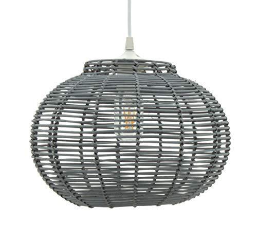 Lussiol 250645 - Lámpara de techo (60 W, 30 x 23 cm), color gris