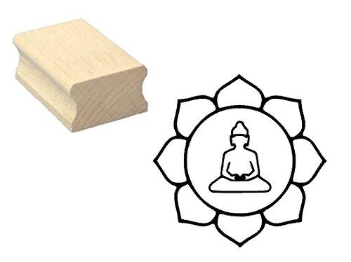 Timbro timbro in legno, motivo: « buddismus Lotus simbolo »-Scrapbooking Embossing fai da te Asia Budda religione
