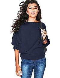 BaZhaHei-Jersey Manga de murciélago Suelta Moda otoño e Invierno suéter de Punto Camisetas, Cardigan para Mujer Suelto y cómodo Blusa Mujer Sudadera de Moda Salvaje de Mujer Ropa Camisas