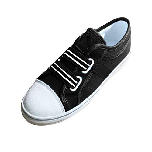 Skate Schuhe Flanell (Sportschuhe für Damen/Dorical Frauen Slip on Sneakers, Casual Canvas Outdoor Elastisch Band Schuhe, Bequeme Hallenschuhe, Halbschuhe,Sportlich Flats Damenschuhe 35-43 EU (Schwarz,42 EU))