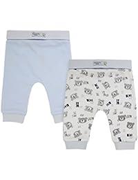 The Essential One - Bebé Niños Paquete de 2 Pantalones/Leggings - Blanco/Azul - TESS12