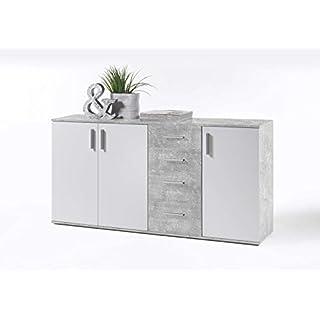 Avanti Trendstore - Bea - Kommode in 2 erhältlich, ca. BHT: 160x82x35 cm (Grau)