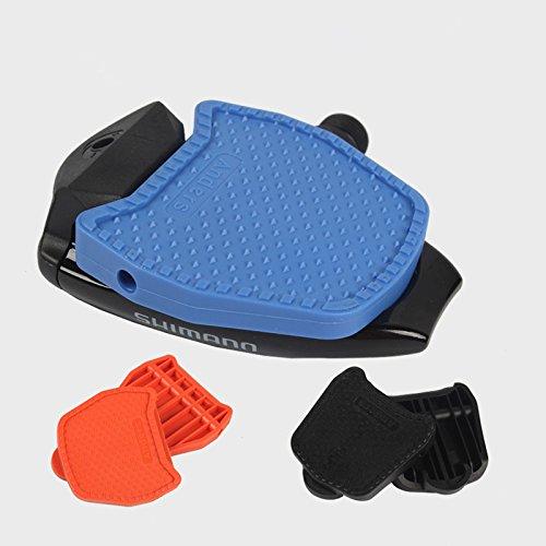 Celtics Rennrad Plattform Pedale cliples Adapter für Shimano spd-sl-Look Keo/Wellgo Sytems, Black/Blue/Orange, black for SHIMANO SPD 1 pair
