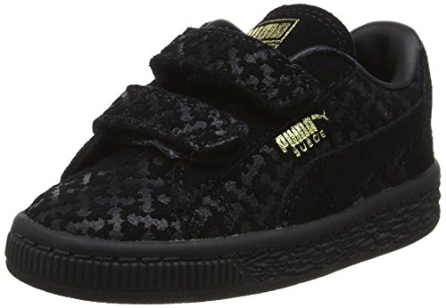 Puma Unisex-Kinder Batman Suede FM V Inf Low-Top, Schwarz (Black-Black Team Gold 01), 26 EU