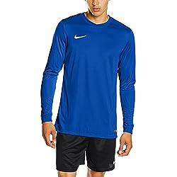 Nike LS Park VI Jsy - Men's T-shirt with long sleeves, blue / white (royal blue / white), size L