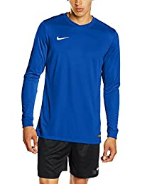 Nike LS Park VI Jsy - Camiseta para hombre con mangas largas, color azul / blanco (royal blue / white), talla L