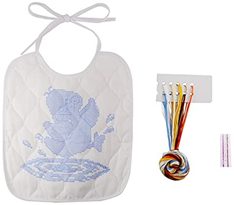 Janlynn Post-consumer recycled plastic bottles Just Ducky Bib Stamped Cross Stitch Kit