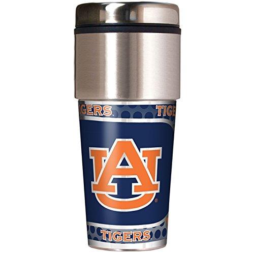 Great American NCAA Auburn Tigers 16oz Reisen Tumbler mit Metallic Wrap -