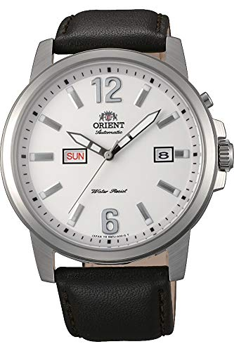 Orient Mens Analogue Automatic Watch with Leather Strap FEM7J00AW9