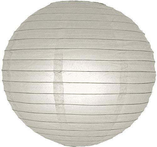 Runde Laterne aus Papier, sogar Tropfen, Hanging (Light nicht enthalten) 50,80 cm Grau (Grau Runde Papier-laterne)