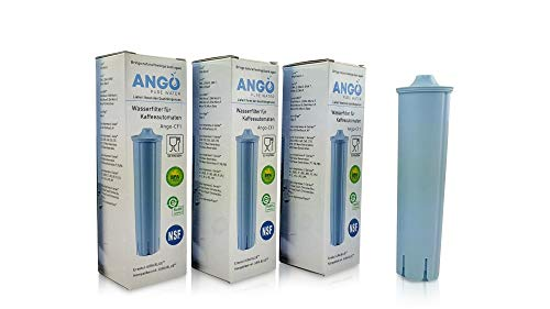 3x Wasserfilterpatronen ersetzen Jura Claris Blue 71311/67007 / kompatibel mit Jura Kaffeemaschinen - PureWater Ango-CF1 Kaffeevollautomat Kartusche